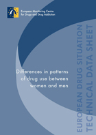 screenshot of publication 'Differences in patterns of drug use between women and men'