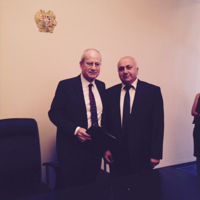 EMCDDA Director Wolfgang Götz and NSC Chief of staff, Aram Tananyan