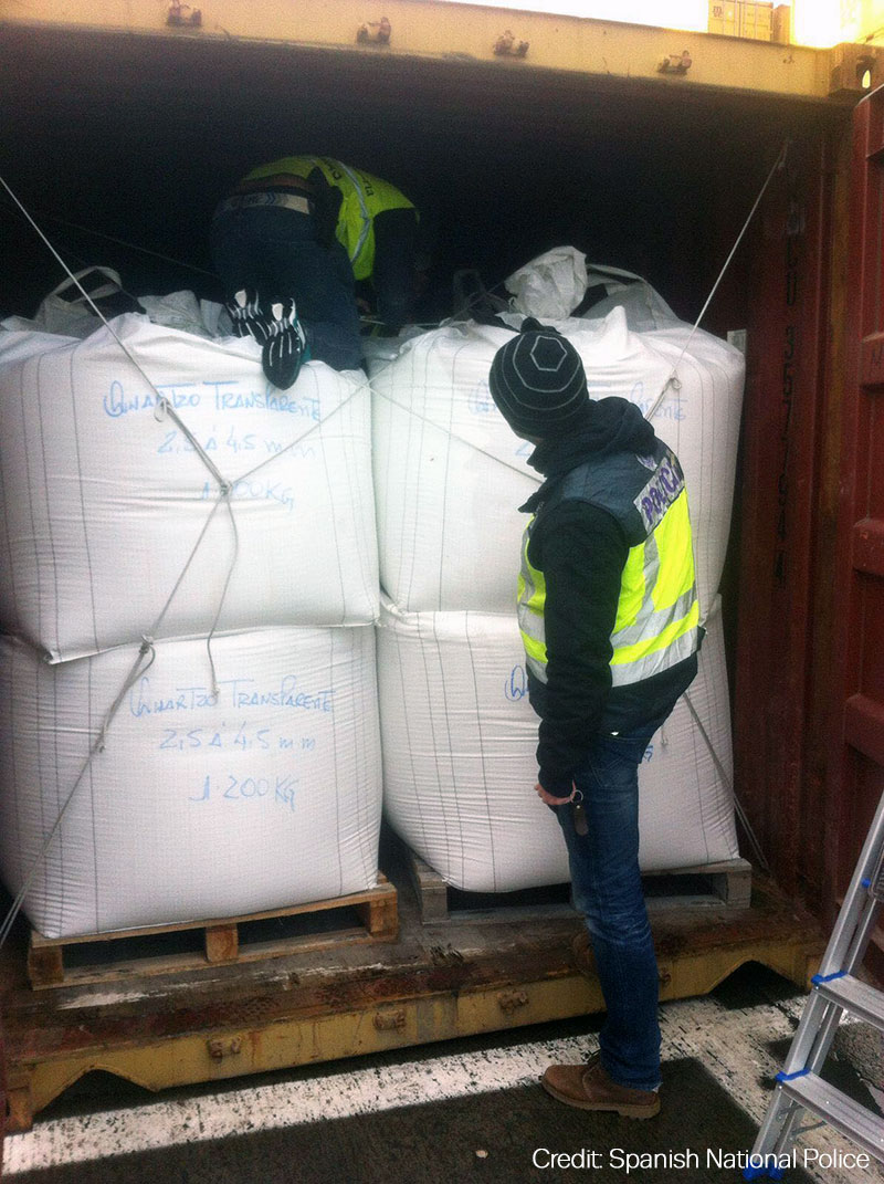 Spanish police investigating cocaine seizure within shipping container