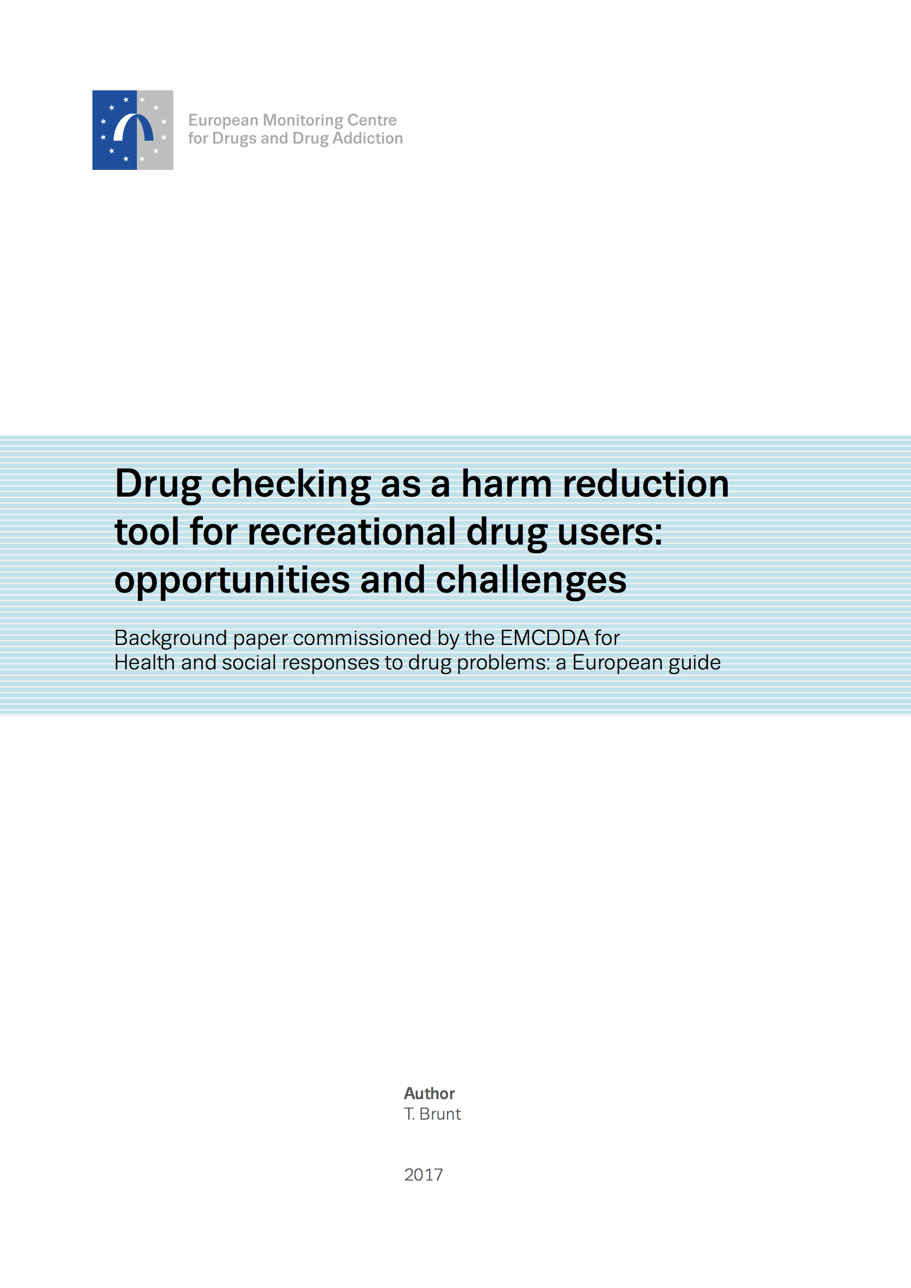Background Paper Drug checking cover