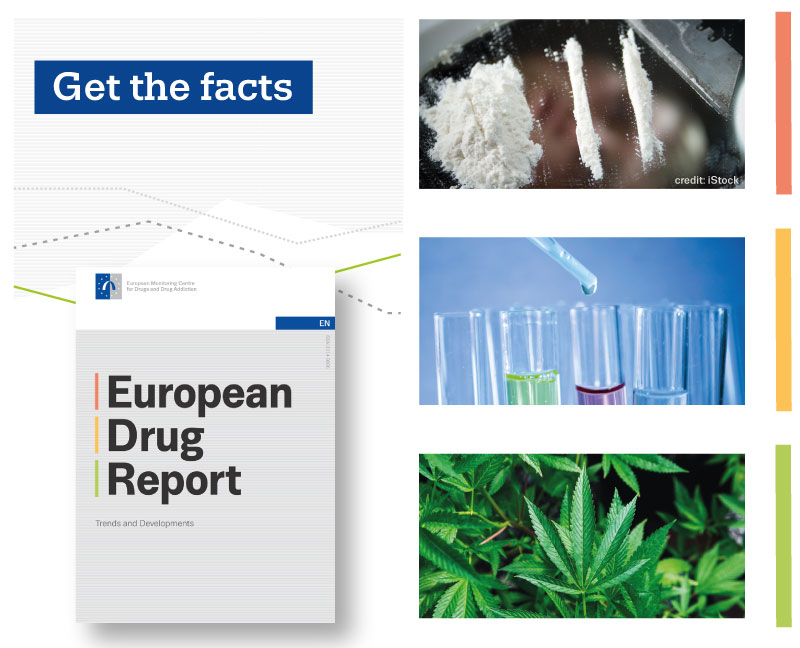 promotion flyer for European Drug Report