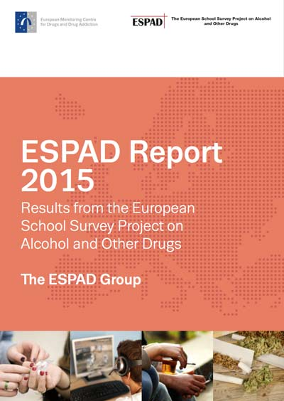 Cover of the 2015 ESPAD report