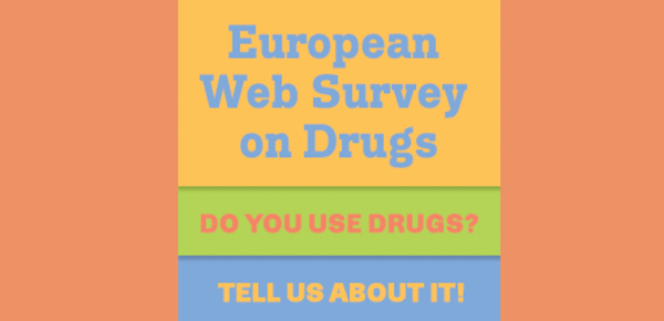 Banner advertising the European Survey on Drugs