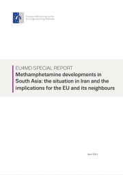 cover of EU4MD special report – Methamphetamine developments in South Asia: the situation in Iran and the implications for the EU and its neighbours