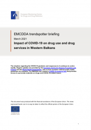 cover EMCDDA trendspotter briefing March 2021 Impact of COVID-19 on drug use and drug services in Western Balkans