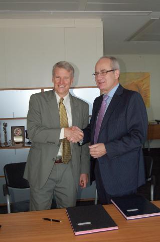 James Mack, Executive Secretary of CICAD and EMCDDA Director Wolfgang Götz