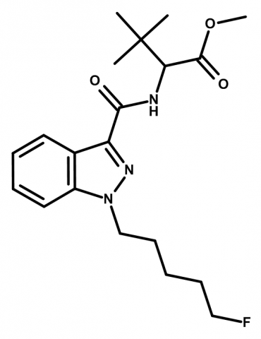 Molecular structure of 5F-MDMB-PINACA