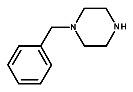 Molecular structure of BZP