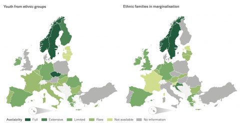 Availability of selective prevention interventions for ethnic minority groups in the European Union, 2015/16