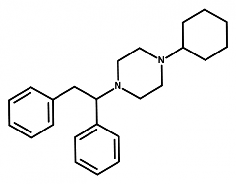 Molecular structure of MT-45