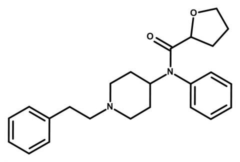 Molecular structure of THF-F