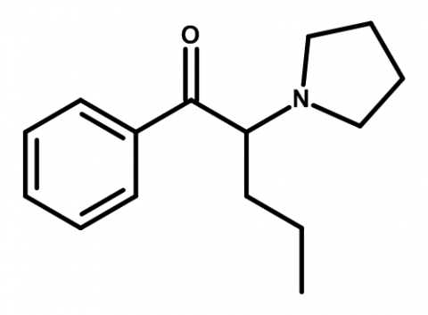 Molecular structure of α-PVP