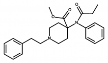 Molecular structure of carfentanil