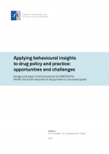 Background Paper Behavioural insights drug policy practice cover