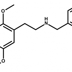 Molecular structure of 25I-NBOMe