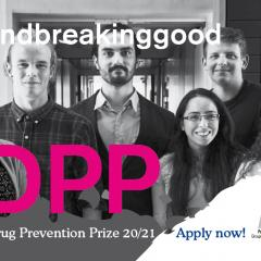 banner European Drug Prevention Prize 2021 with people's faces