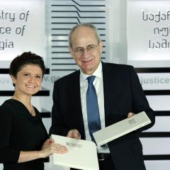 EMCDDA Director Wolfgang Götz and the Georgian Minister of Justice Tea Tsulukiani