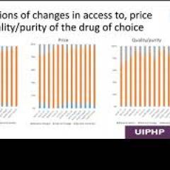 Screenshot of a presentation from the EMCDDA webinar on COVID-19 and drugs in the European neighbourhood