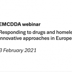 EMCDDA webinar: Responding to drugs and homelessness. Innovative approaches in Europe