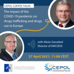 image of EMCDDA director and cepol director date: 27 April at 11.00 (CEST)