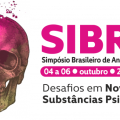 image with information about simposio brasileiro de análises toxicologicas sibrat 4 to October 2021 online. The image has a skull