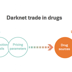 Chart showing intelligence picture: darknet trade in drugs