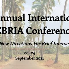 title 17th Annual International INEBRIA Conference with a blurred palm tree background