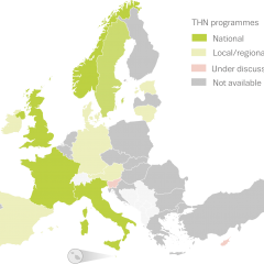 Map of take-home naloxone programmes