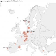 Location of drug consumption facilities in Europe, November 2019