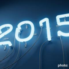 Picture of 2015 in neon