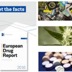 European Drug Report 2016 promotional banner