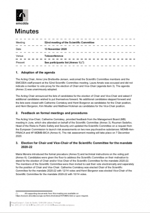 cover minutes document