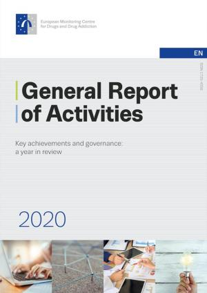 Cover of the General Report of Activities 2020