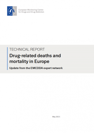 cover image of report drug-related deaths and mortality in Europe update from the EMCDDA expert network