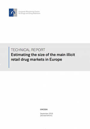 Estimating size main illicit retail drugs market