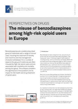 Benzodiazepines POD's cover