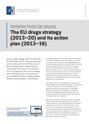 EU drugs strategy POD's cover