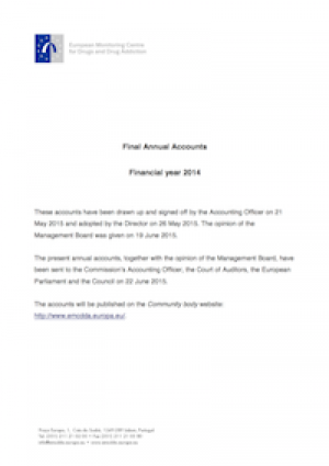 Thumbnail of the EMCDDA 2014 annual accounts cover