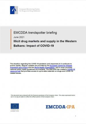 cover of Illicit drug markets and supply in the Western Balkans: Impact of COVID-19