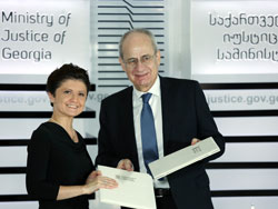 Director with Minister of Justice in Georgia
