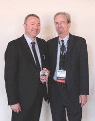 Left to right: Paul Griffiths and Steven W. Gust, Ph.D.