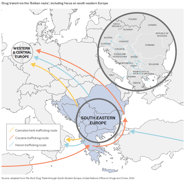 drug transmit map from the report