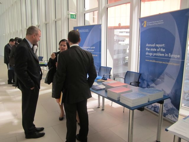 EMCDDA stand at the 54th CND session